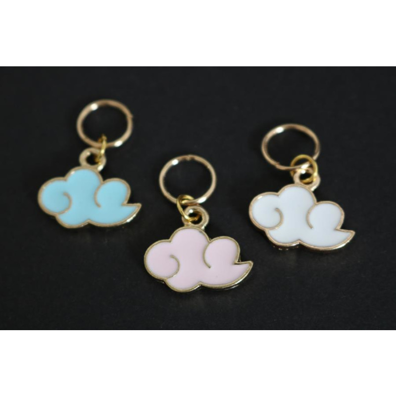 Stitch Markers - Happy Clouds