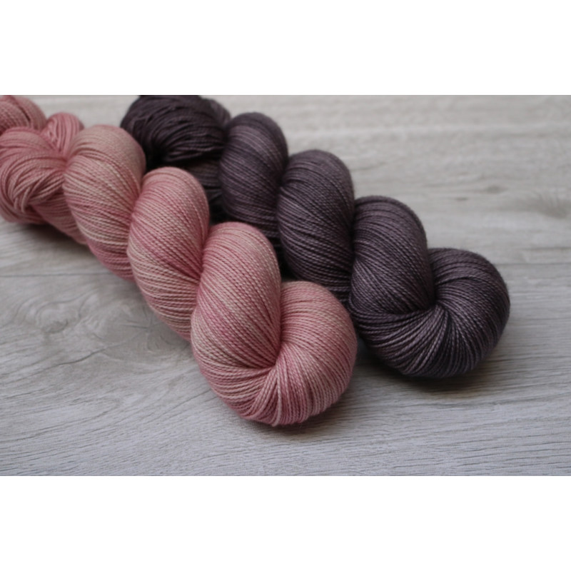High Twist Merino Pure Kit - Cosmic flow Vintage Graphite